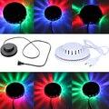 Increíble UFO Portable Laser luces de la Etapa 8 w rgb 48 led de sonido activado iluminación llevada llevó la lámpara de pared KTV DJ Party Boda