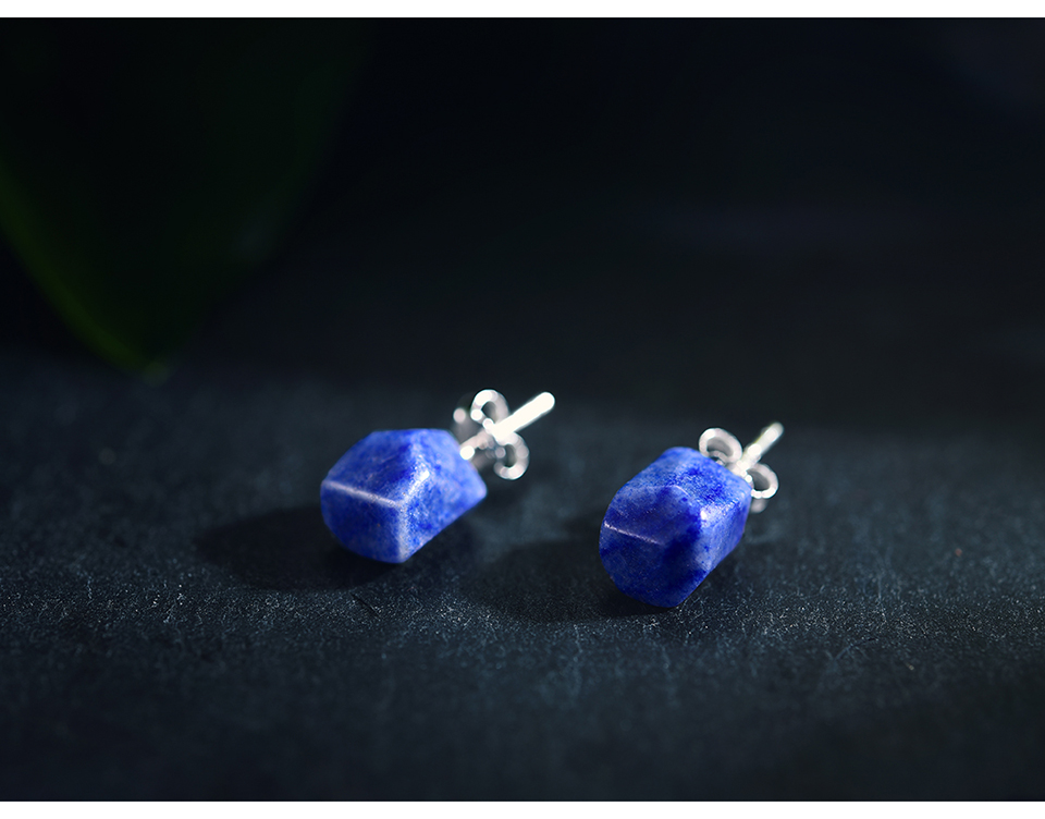 HTB1B7upE1OSBuNjy0Fdq6zDnVXaV Lotus Fun Real 925 Sterling Silver Earrings Natural Stone Designer Fine Jewelry Vintage Fashion Stud Earrings for Women Brincos
