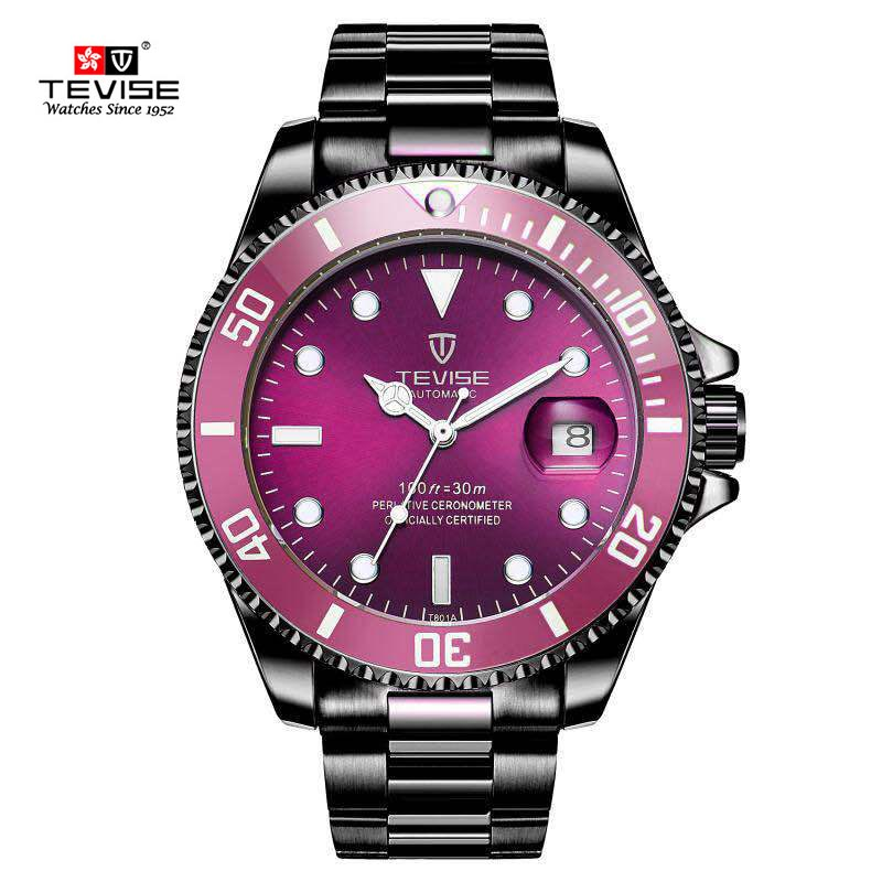 New Tevise Men Mechanical Watch Automatic Date Fashion luxury submariner Clock Male Role Sport Business Clock  Relogio Masculino luxury tevise brands men s mechanical wristwatches automatic male watches fashion skeleton steel man watch relogio clock