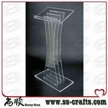 Large Transparent Plexiglass Prodium For Ceremony Lectern for Ceremony фото
