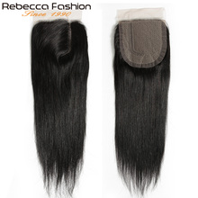 Rebecca Remy Hair 5*6 Lace Closure L Deep Part Lace Closure Malaysia Straight Human Hair Closure With Baby Hair 10-20 Inch cheap 1 Piece Only Half Machine Made Half Hand Tied Malaysia Hair Darker Color Only Swiss Lace Medium Brown 150 Pure Color