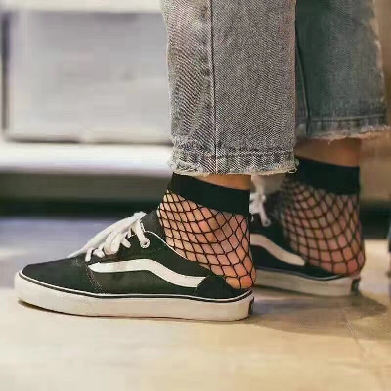 5725de51eb526 Hot Style 2017 Summer Vogue Women Sock Hollow Out High Range Bamboo Fiber Fishnet  Socks Female Fashion Sexy Black Socks Femme-in Socks from Underwear ...