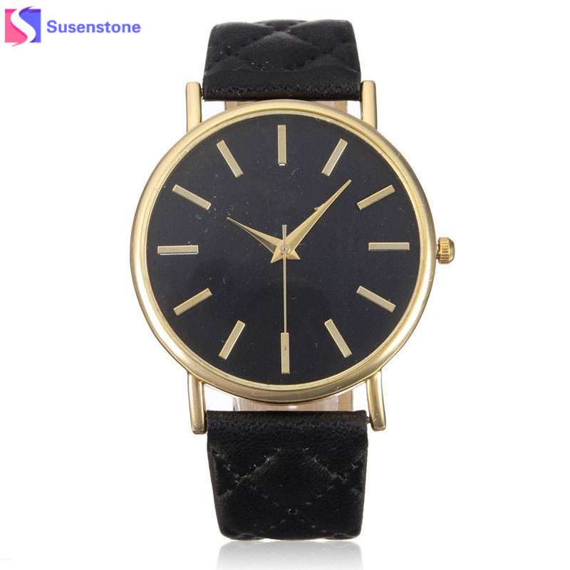 Wavors watches women fashion luxury watch plaid PU Leather strap analog quartz ladies casual wrist watches Relogio Feminino wavors luxury watches women men leather band rome number auto time analog wrist quartz dress watch
