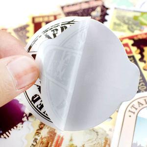Image 5 - 50pcs Retro Verschiedenen Ländern Briefmarken Vinyl Aufkleber DIY Zu Laptop Haut Kühlschrank Gepäck Aufkleber Für Macbook Air/Asus/Xiaomi/HP