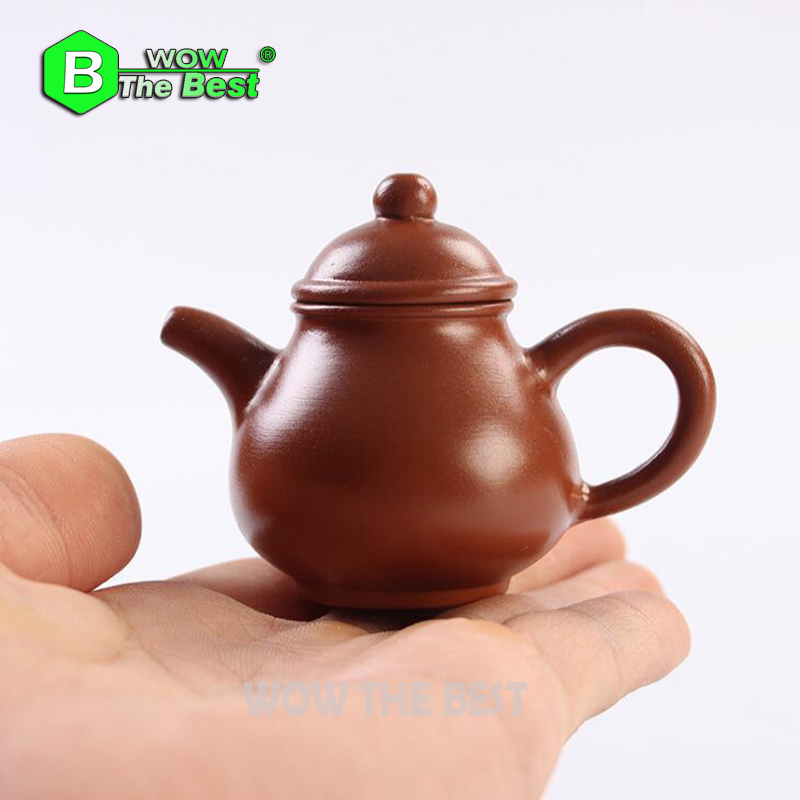 1piece Mini Çaydanlıq, Qədim Bənövşəyi Gil çaydanı Daş - Mətbəx, yemək otağı və barı - Fotoqrafiya 4