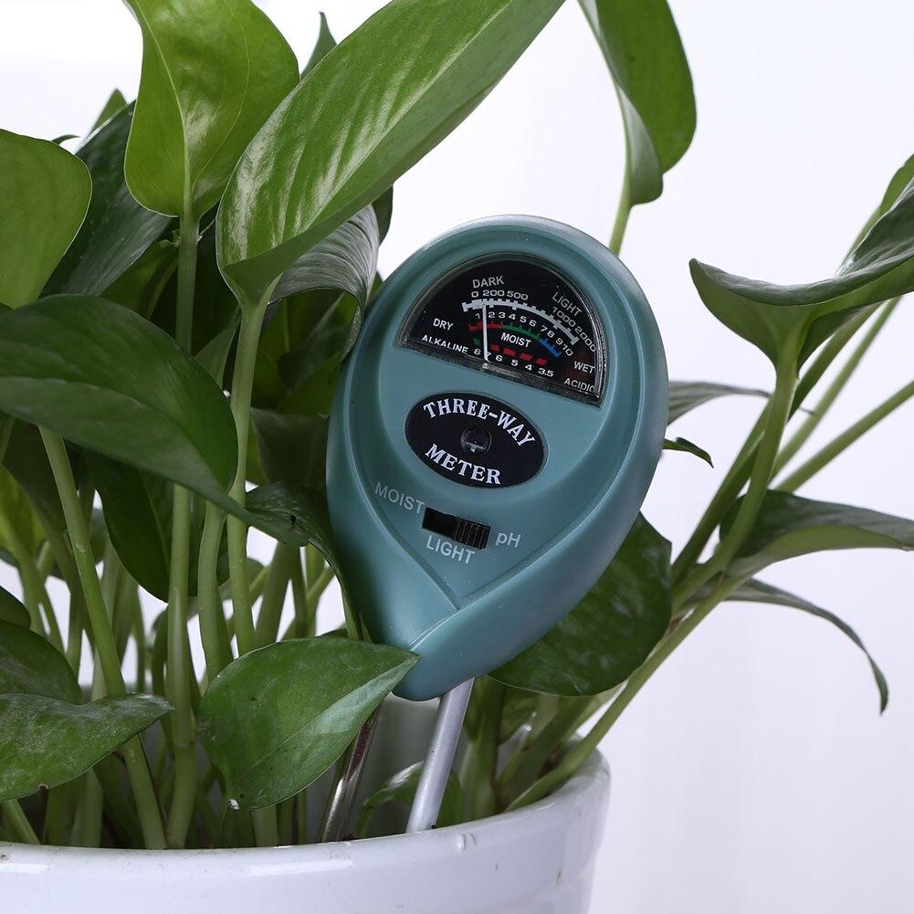 3-in-1 Soil Digital PH Meter Flower Pot Hygrometer Soil Tester Plant Water Moisture Light Meter Analyzer Detector Garden Tools