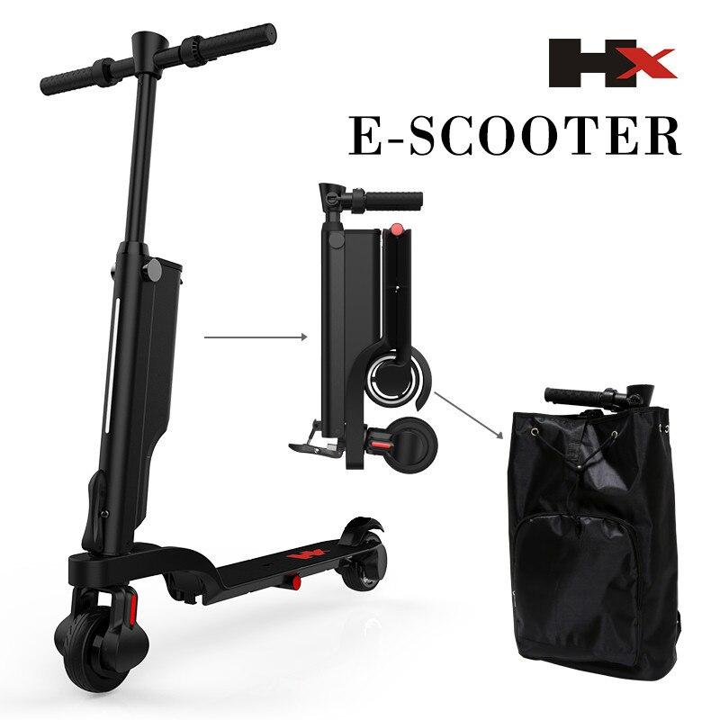 HX X6 Pliage trottinette électrique Deux Roues trottinette électrique s Mini Protable Sac À Dos E-Scooter vélo électrique Ebike