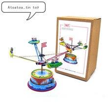 Винтажная Коллекция Ретро оловянные игрушки классический заводной вращающийся космический корабль оловянные игрушки для взрослых детей коллекционный подарок
