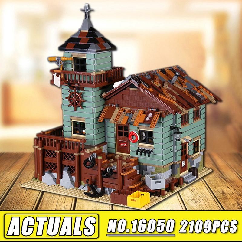 IN STOCK 16050 2109Pcs MOC Series the Old Finishing Store Model Set Children Educational Building Blocks Bricks Toys Lepin the little old lady in saint tropez