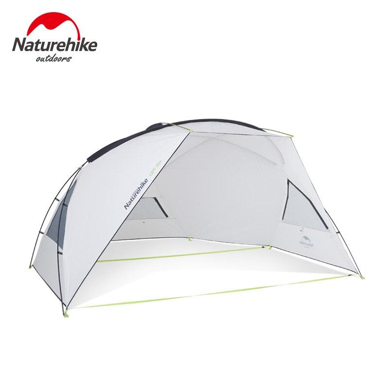 Nature randonnée Camping auvent tente soleil Protection UV abri soleil auvent extérieur étanche à la pluie parasol plage bâche UPF40 + NH18Z001-P