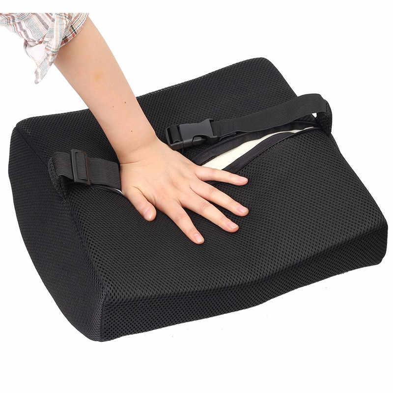 Universal Memory Foam Lumbar Cushion Washable Mesh Cloth Car Pillow Chair Back  Support Waist Massager Auto Accessories