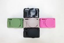 Цифровая Фотокамера Приятный Мягкий Силиконовой Резины Камера Защитный Чехол Чехол кожи Объектива сумка для Canon G7X G7XII марк 2 G7X II