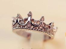 Elegancki Pierścionek Korona Crown