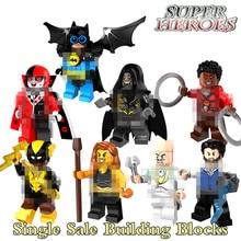 Single Sale Black Vulcan Harley Quinn  Super Heroes Batman Building Block White Dr. Eggman Action Figures Toy For Kid PG8111