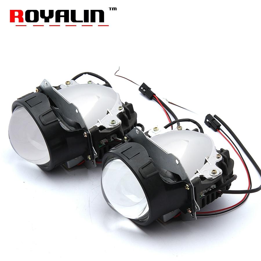 royalin car styling universal bi led projector headlights. Black Bedroom Furniture Sets. Home Design Ideas