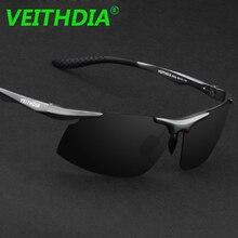 Мужские поляризованные солнцезащитные очки VEITHDIA с логотипом из алюминия и магния UV400, солнцезащитные очки для вождения,, аксессуары 6535