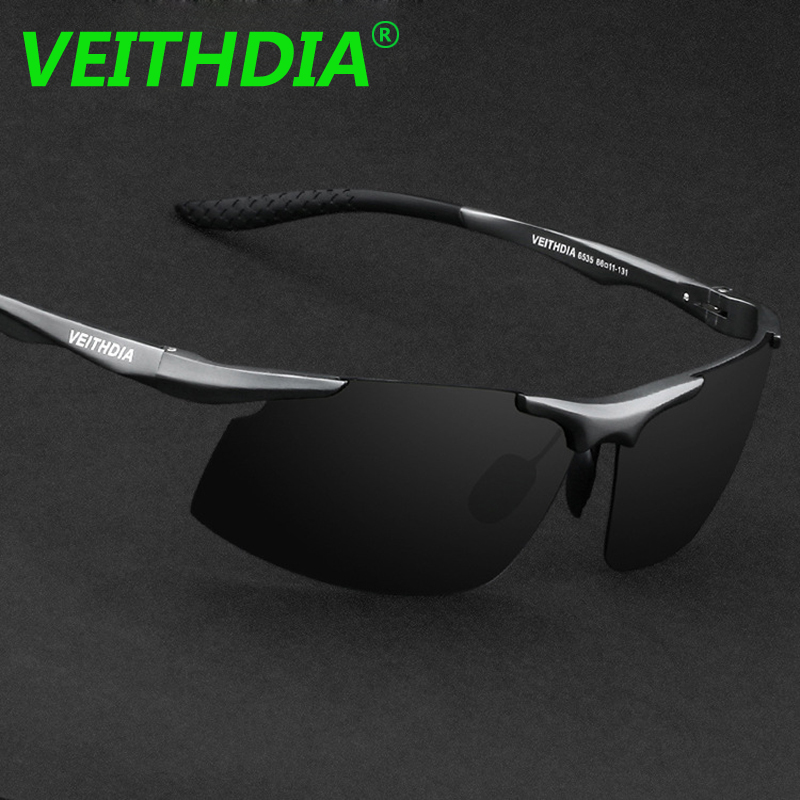 Logotipo Da Marca Designer de Alumínio E Magnésio VEITHDIA UV400 óculos de  Sol Dos Homens Polarizados Condução Óculos de Sol Óculos de 2017 Acessórios  6535 67399db50a