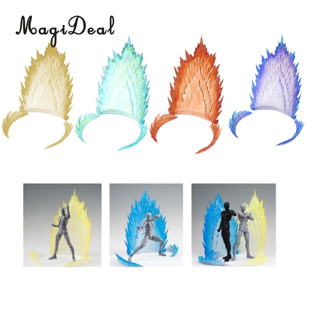 MagiDeal Plastic Explode Effect TV Movie Anime Figure Display Stand for Dragonball Saint Seiya