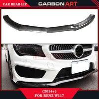Mercedes CLA CLASS W117 Carbon Fiber Front Bumper Spoiler Lip CLA260 CLA220 CLA200 Sport Race Splitter