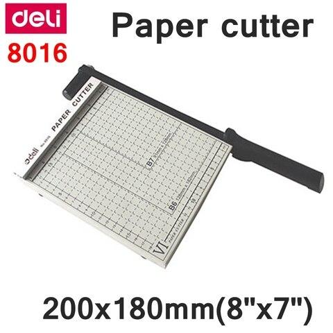 readstar deli 8016 trimmer manual de papel tamanho 200x180mm 8 x 7 pequeno cortador