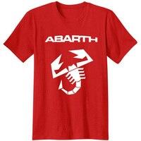 Abarth Scorpion Logo T Shirt Camiseta High Quality 100 Cotton Tops Tees T Shirt Italy Fashion