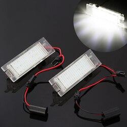 2 sztuk samochodów stylizacji LED oświetlenie tablicy rejestracyjnej dla Opel Astra H J Insignia Zafira B Corsa C D Meriva A B Vectra C w Tablica rejestracyjna od Samochody i motocykle na