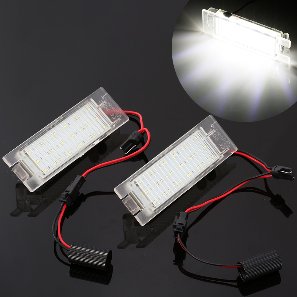 2pcs Car-Styling LED License Plate Lights For Opel Astra H J Insignia Zafira B Corsa C D E Meriva A B Vectra C