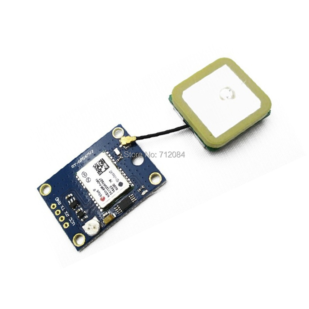 GY-NEO6MV2 new GPS module NEO6MV2 NEO-6M with Flight Control EEPROM MWC APM2.5 large antenna apm2 6 flight control board apm shock absorber neo 7m gps w compass power module