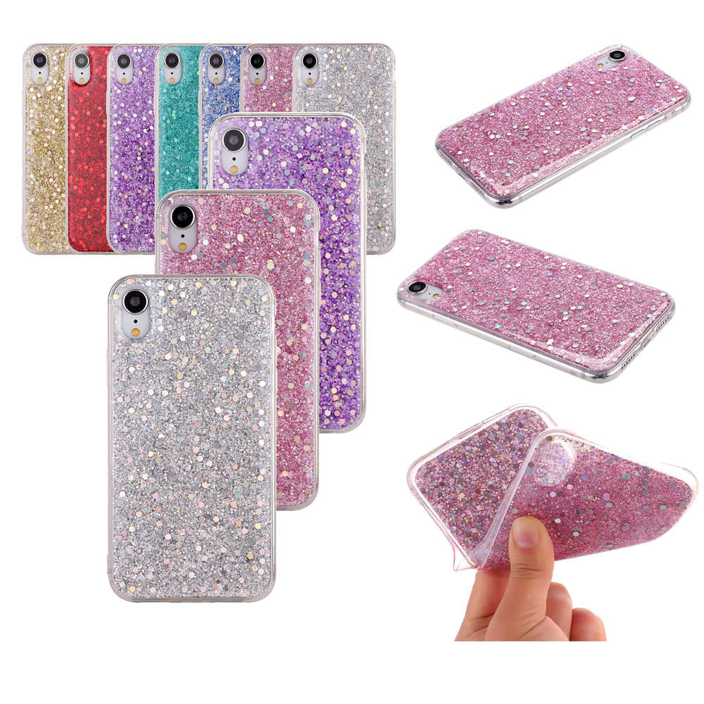 Luxury Glitter Phone Case for Samsung Galaxy S10 Plus Lite M10 M20 A10 A20 A30 A40 A50 A60 A70 A8S Bling Soft Clear TPU Cover