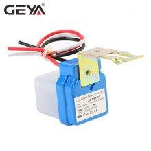 GEYA Automatic On Off Photocell street Light Switch AC 110V 220V 50-60Hz 3A 6A 10A Photo Control Photoswitch Sensor Switch цены