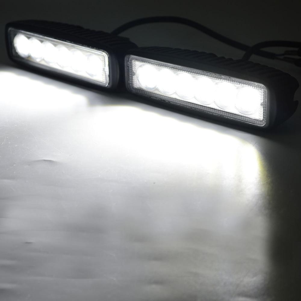 2pcs crno kućište spot offroad 18W LED vanjska radna svjetiljka 18w - Svjetla automobila - Foto 6
