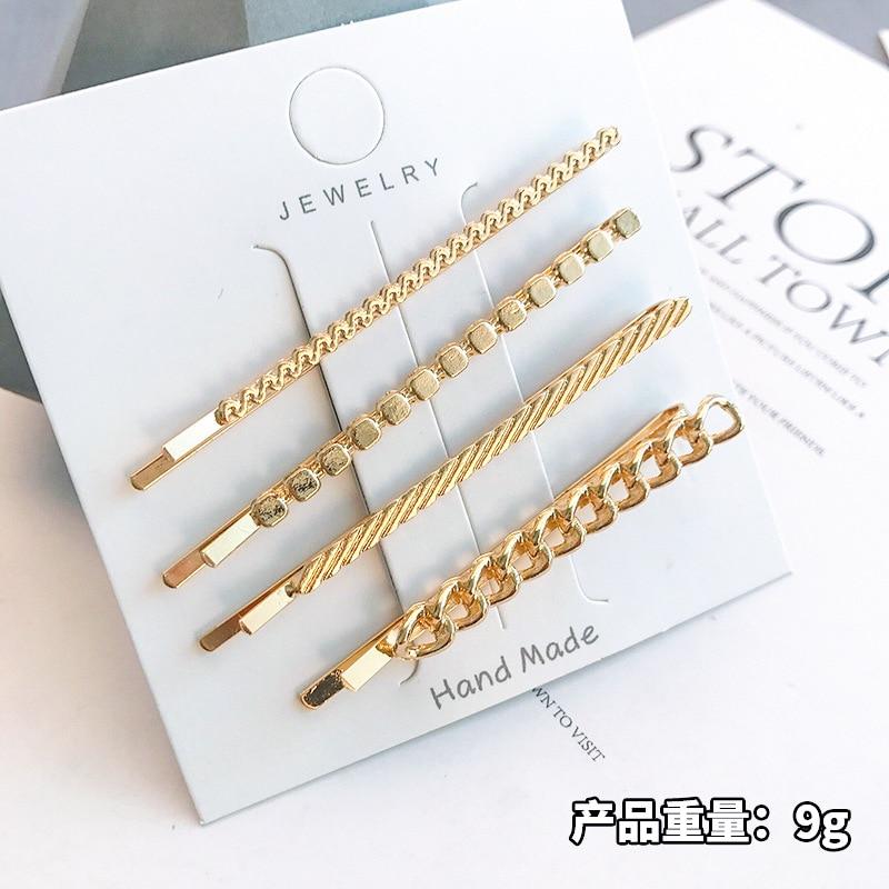 2 шт./компл., женские модные золотые шпильки для волос, украшения для укладки волос, металлический набор заколок для волос, аксессуары для вол...