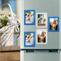 5Pcs / Lot Magnetic Crystal Photo Frame Fridge Magnets Refrigerator Fridge Decor Picture Frames Flexible Multicolor Frame 0532