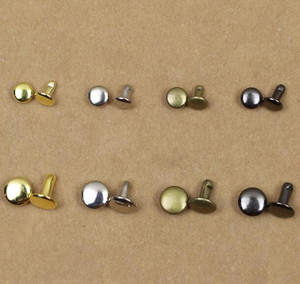 Spike Leather 100set Special Offer 2018 New Metal Nail Textile Accessories Circular Rivet 8*8mm 6*6mm Double Silver Bronze