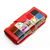 Qianxilu Brand 3 Fold Genuine Leather Women Wallets Coin Pocket Female Clutch Travel Wallet Portefeuille Femme