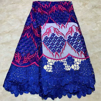 Tulle Embroidered Net Lace African French Laces Fabrics High Quality Nigerian French Net Lace 2019 With stones FLM029 gold