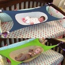 Съемный Коврик для детской кроватки, Безопасный детский гамак с регулируемой сеткой