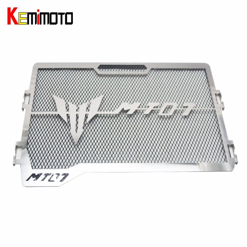 KEMiMOTO For Yamaha MT07 MT 07 MT-07 2017 Motorcycle Accessories Radiator Grille Guard Cover Protector FZ07 2014 2015 2016