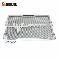 KEMiMOTO For Yamaha MT07 MT 07 MT 07 2017 Motorcycle Accessories Radiator Grille Guard Cover Protector FZ07 2014 2015 2016