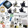 Tattoo Kit Machine Gun Power Supply Needles Grip Tip Ink Needle Aluminum Kit Case