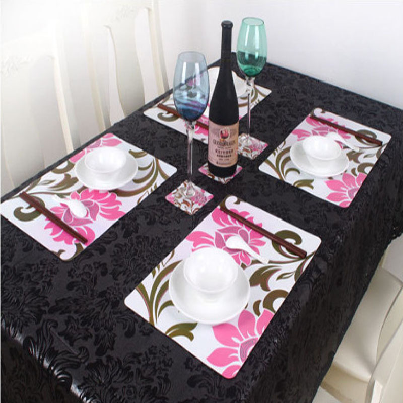 Dining Table Placemats Silicone Coaster Vintage Table Mats