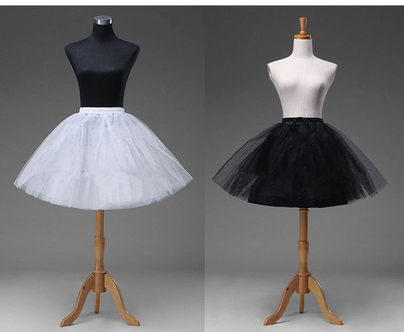 Top Sale Short Petticoat Crinoline Underskirt Tutu Bridal Wedding Dress Skirt Slips 2020