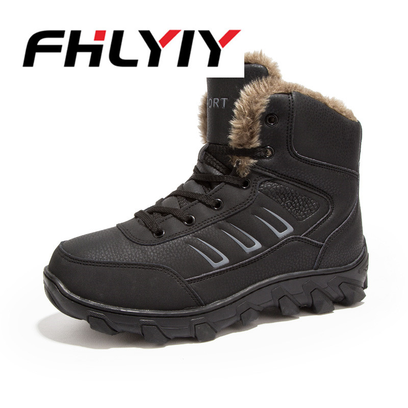 Men Big Size 39-46 Snow Boots High Top Ankle Autumn Winter Warm Boots Hard-wearing Outdoor Home Casual Shoes Male Fashion Shoes plus size 46 mens casual high top shoes winter warm plush ankle boots men shoes outdoor fashion cotton shoes mountain zapatos