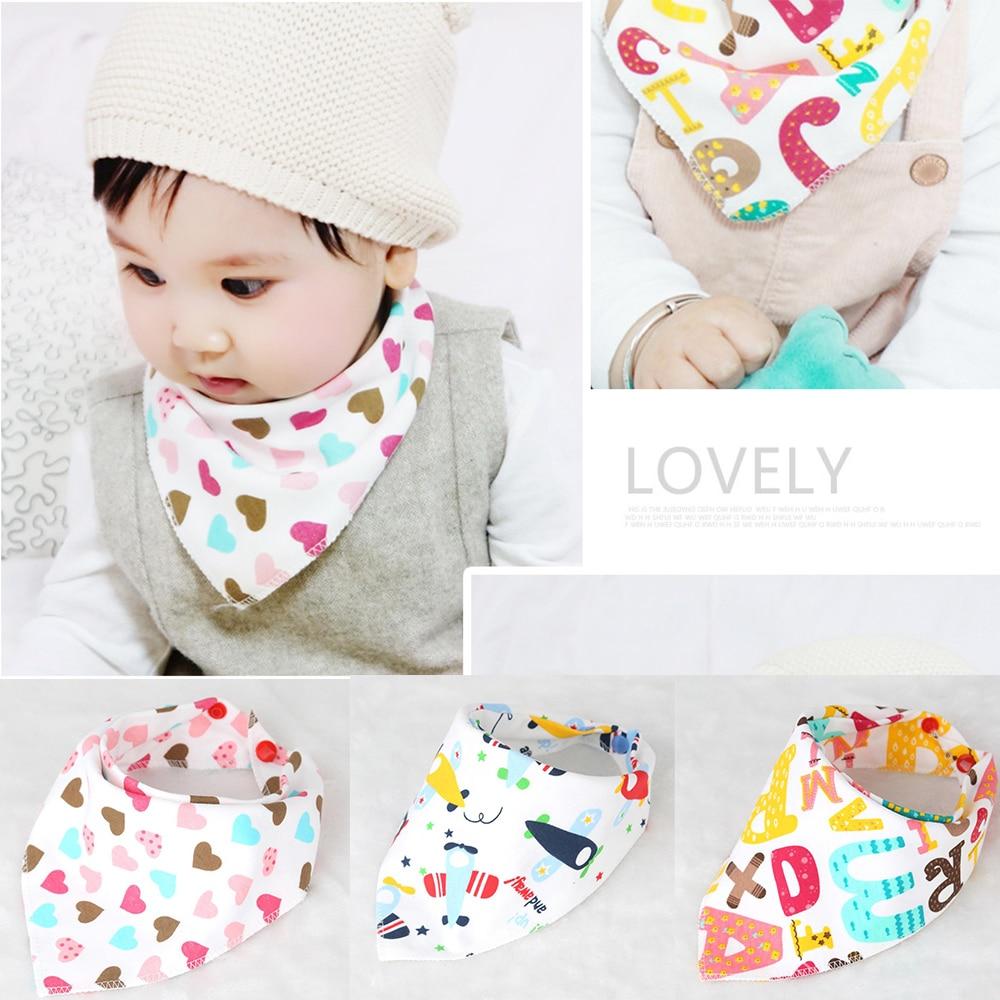 Infant Baby Bibs Feeding Saliva Towel Triangle Bandana Cotton Headband Scarf Hot