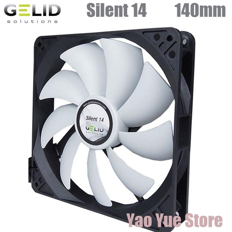 GELID SILENT 14 140mm PC Computer Case Fan CPU Cooler Cooling Heat Sink Radiator 14cm Fan computer cooler radiator with heatsink heatpipe cooling fan for hd6970 hd6950 grahics card vga cooler