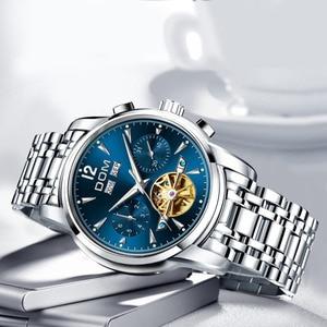 Image 2 - Dom Heren Mechanische Horloges Luxe Mode Merk Waterbestendig Automatische Polshorloge Mannen Business Tourbillon Horloge M 75D 2MW