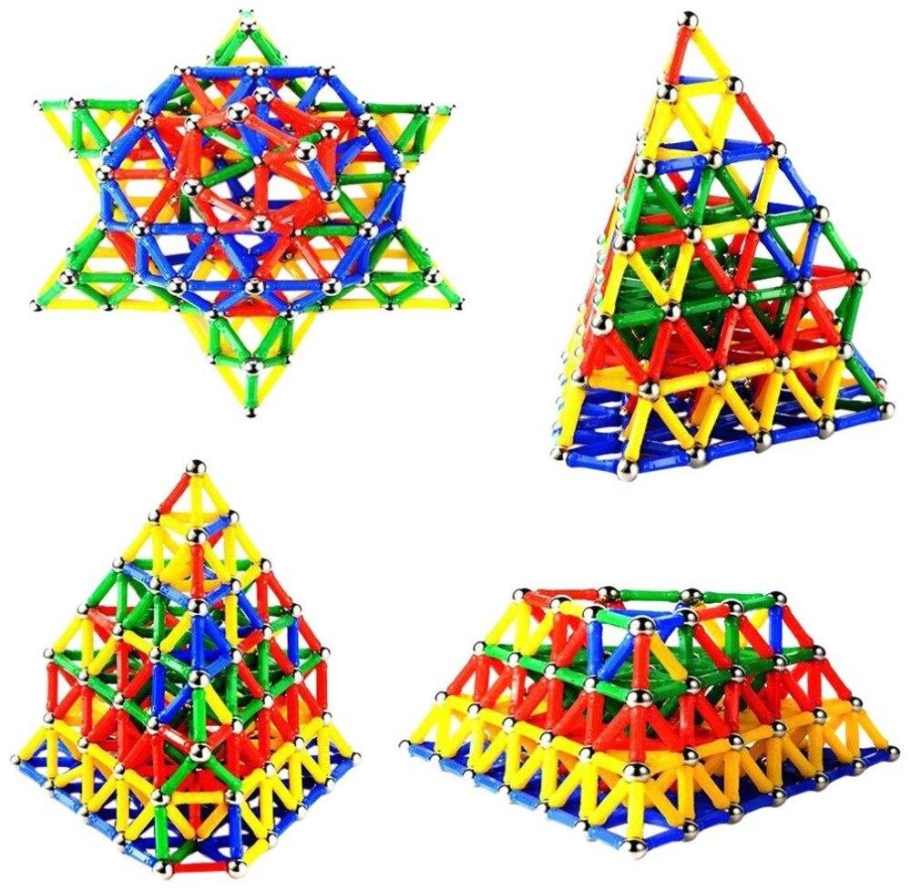300 шт. магнитные игрушки палочки и металлические шарики магнитные строительные блоки строительные игрушки для детей Обучающие DIY дизайнерс...