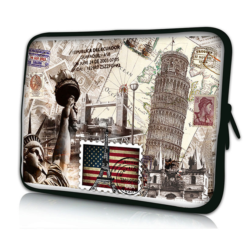 USA Stamp Laptop Sleeve Bag For Laptop 11,12,13,14,15,15.6 17 ,For ipad Tablet 9.7Case For MacBook Air Pro,Free Shipping