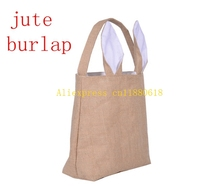 Buy gift bag materials and get free shipping on aliexpress 10pcs dhl fedex free shipping easter gift bag jute burlap material rabbit ear shape bags for negle Choice Image