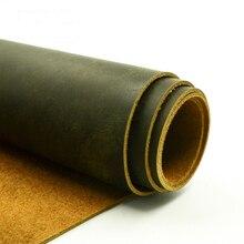 Caballo loco de cuero primera capa de cuero genuino materias primas material de cuero material de bricolaje para cinturón